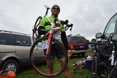 Patrick Palmer, post-race, with HiFi MixMaster aluminum tubulars