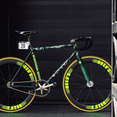 Robin Gemperle's Stanridge Speed Red Hook Crit machine.