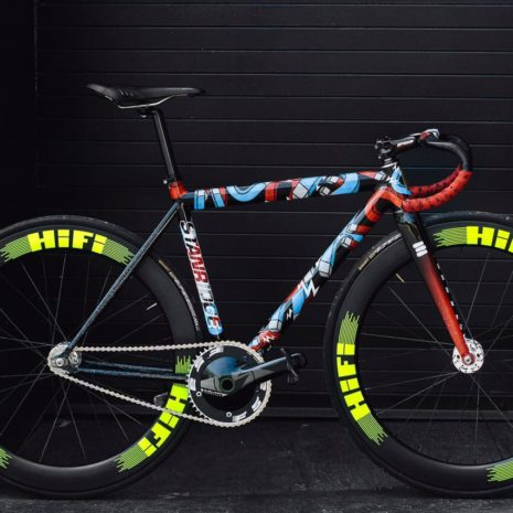 Hayley Edwards' Stanridge Speed Red Hook Crit machine.